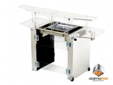 Plex Station Mobile Koffer Bar aus Plexiglas